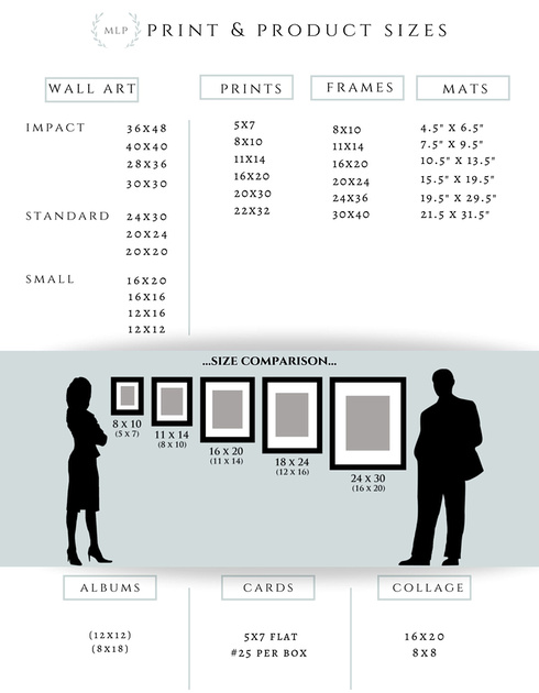 MLP print and product sizes