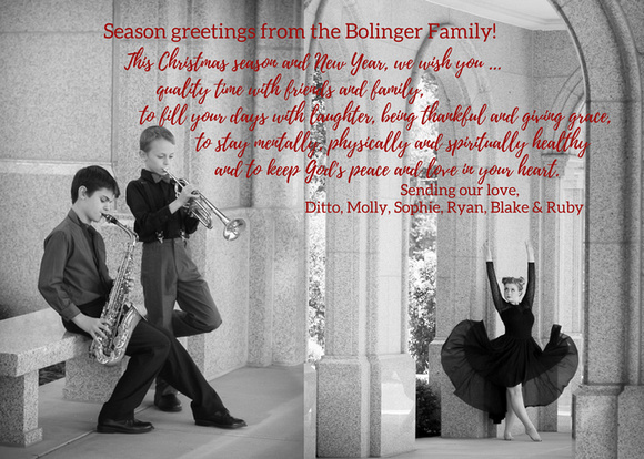 2017 Bolinger Christmas card - back